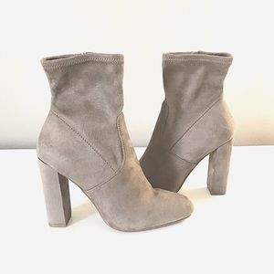Taupe Suede EDIT Booties